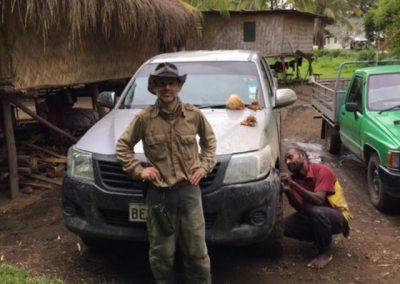 Sam in Papua New Guinea on a p38 hunt