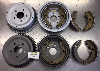 60s Mercedes Benz 190 220 brake shoes and drums