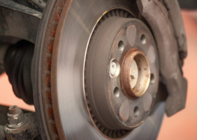 Car disc brake servicing